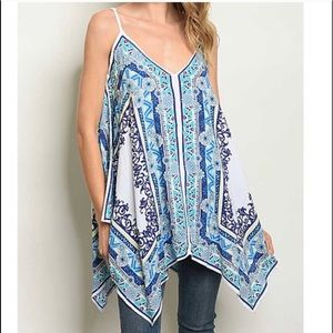 Floral Tunic Top S, M,